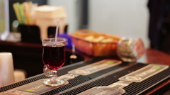 The drink on the bar counter Stock Footage