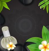 Thai herbs massage spa with compress herbs natural background - stock illustration