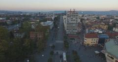 Banja Luka, Bosnia and Herzegovina, aerial shot of city center Arkistovideo