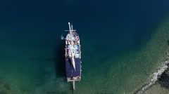 Top aerial view Blue Voyage from Turkey. Stock Footage