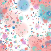 Colorful blurred background with snow overlay, seamless - stock illustration