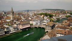 Zurich Switzerland Panorama Stock Footage