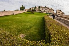 Panorama of Assisi (Italy) - stock photo