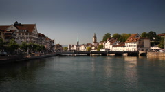 Zurich South River View Stock Footage