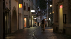 Lucerne Alleyway Shops Stock Footage