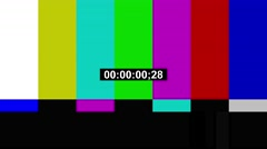 TV Color Bars PAL time code.mp4 - stock footage