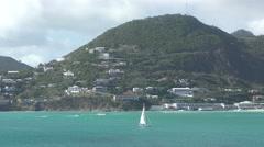 St Maarten in the Caribbean Stock Footage