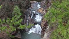 Sautee GA waterfall depth of field Stock Footage