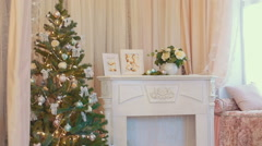New Year's toys on the Christmas tree Stock Footage