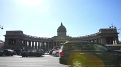 Kazan Cathedral in St.Petersburg, Russia Stock Footage