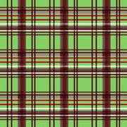 Rectangular seamless pattern in green and brown Stock Illustration