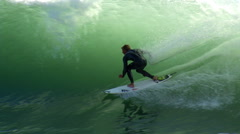 Stock Video Footage of Surfing Touch the Face Slowmo