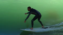 Stock Video Footage of Surfing Charging Hard Graphic Style