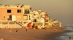 SoCal Beach Homes Medium Stock Footage