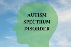 Autism Spectrum Disorder concept - stock illustration