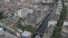Canal transport at Bobae,Bangkok,Thailand Stock Footage
