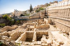 Archeological site in Jerusalem, Israel Stock Photos