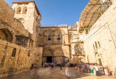 Church of the Holy Sepulchre, Jerusalem - stock photo