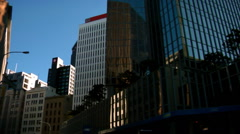 Downtown Wellington Streets Pan Stock Footage