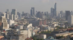 Skyline with scyscapers,Bangkok,Thailand Stock Footage