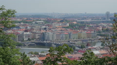 View on Prague from a hill, Czech republic. 4k UHD Stock Footage