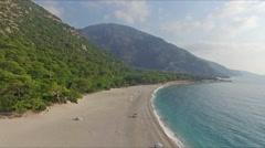 Kidrak Beach Turkey From Turkish Mediterrenean Stock Footage