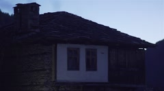 Stone house in the Bulgarian mountain village Stock Footage