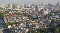 City skyline from Bobae,Bangkok,Thailand Stock Footage