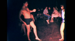 DANCE Summertime PARTY People Wild DANCING 1960s Vintage Film Home Movie 9004 Stock Footage