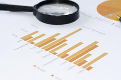 Business graph report Stock Photos