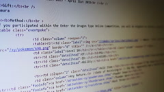 Computer Code Scrolling Stock Footage