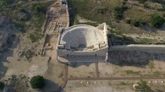 Patara ancient parliament building Stock Footage