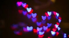abstract heart design lights light symbolism - stock footage