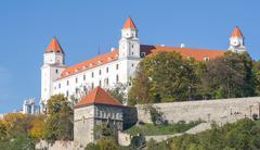 Castle in Bratislava Stock Photos
