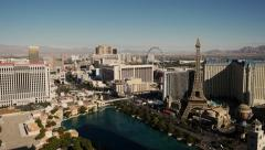 Static shoot Las Vegas Fountains Bellagio view from the heights - stock footage