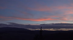 4k Sunset clouds timelapse mountain range Harz forest Stock Footage