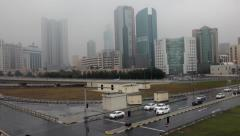 A rainy day in Bahrain. - stock footage