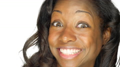 Beautiful woman making funny faces. - stock footage