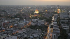 Ko Rattanakosin view with canal transport,Bangkok,Thailand Stock Footage