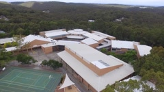 Aerial Footage of School in Bushland Stock Footage