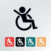 Disabled icon. - stock illustration