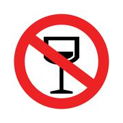 No alcohol sign. Stock Illustration