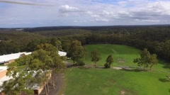 Aerial Footage of Sports Field in Bushland. Stock Footage