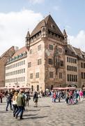 Tourism in Nuremberg - stock photo