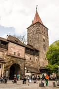 Imperial Castle in Nuremburg - stock photo