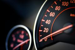 Car speedometer detail Stock Photos