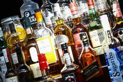 Alcohol bottles - stock photo