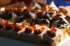 Sweetish cakes - stock photo