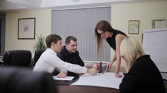 Business people group on meeting - stock footage