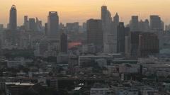 Sunrise with skyline,Bangkok,Thailand Stock Footage
